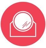 Ο καθρέφτης σαλονιών απομονώνει το διανυσματικό εικονίδιο Editable Απεικόνιση αποθεμάτων