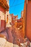 Ο κακός χωμάτινος δρόμος, Abyaneh στοκ φωτογραφία