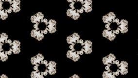 Ο καπνός διαδίδει στο διάστημα και διαμορφώνει μια σύνθετη γεωμετρική δομή των κυττάρων, μια επίδραση caledoscope των ρευμάτων κα ελεύθερη απεικόνιση δικαιώματος