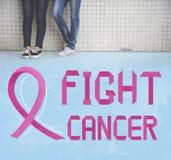 Ο καρκίνος του μαστού θεωρεί την έννοια ασθένειας γυναικών ελπίδας Στοκ φωτογραφίες με δικαίωμα ελεύθερης χρήσης