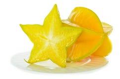 Ο καρπός αστεριών είναι πλούσιος σε χυμό. Στοκ Εικόνες