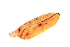 ο καρπός μπανανών ανασκόπησης απομόνωσε άσπρο κίτρινο φλούδας Στοκ Εικόνες