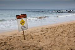 Ο καρχαρίας διάκρινε το σημάδι Στοκ Εικόνες