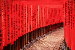 Ο καταπληκτικός ναός inari-Taisha Fushimi, Ιαπωνία στοκ φωτογραφία με δικαίωμα ελεύθερης χρήσης