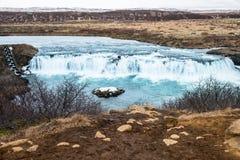 Ο καταρράκτης Faxi ή faxafoss ο καταρράκτης είναι στην Ισλανδία Στοκ εικόνα με δικαίωμα ελεύθερης χρήσης