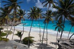 Ο κατώτατος κόλπος είναι μια από τις ομορφότερες παραλίες στις Καραϊβικές Θάλασσες Στοκ φωτογραφίες με δικαίωμα ελεύθερης χρήσης