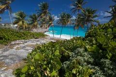 Ο κατώτατος κόλπος είναι μια από τις ομορφότερες παραλίες στις Καραϊβικές Θάλασσες Στοκ Φωτογραφίες