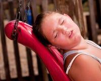ο καυτός ήλιος κοριτσιών ιδρώνει κάτω Στοκ φωτογραφία με δικαίωμα ελεύθερης χρήσης
