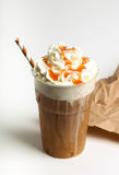 ο καφές ανασκόπησης frappe απομόνωσε το λευκό Στοκ φωτογραφίες με δικαίωμα ελεύθερης χρήσης