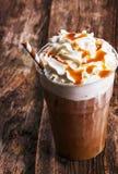 ο καφές ανασκόπησης frappe απομόνωσε το λευκό Στοκ Εικόνες