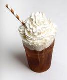 ο καφές ανασκόπησης frappe απομόνωσε το λευκό Στοκ Φωτογραφίες
