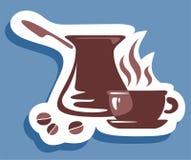 ο καφές απομόνωσε το καθορισμένο λευκό Στοκ Φωτογραφίες