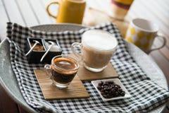 ο καφές απομόνωσε το καθορισμένο λευκό Στοκ φωτογραφία με δικαίωμα ελεύθερης χρήσης