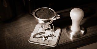 ο καφές απομόνωσε το καθορισμένο λευκό Στοκ Εικόνες