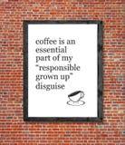 Ο καφές είναι ένας ουσιαστικός που γράφεται στο πλαίσιο εικόνων στοκ φωτογραφία με δικαίωμα ελεύθερης χρήσης