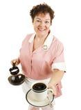 ο καφές εξυπηρετεί τη σε&rh στοκ φωτογραφία με δικαίωμα ελεύθερης χρήσης