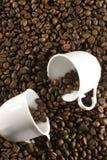 ο καφές κοιλαίνει δύο Στοκ Εικόνες