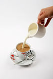 ο καφές κοιλαίνει το γάλ&a Στοκ Φωτογραφίες