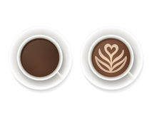 Ο καφές κοιλαίνει τη τοπ άποψη Στοκ Εικόνα