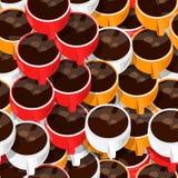 ο καφές κοιλαίνει το πρότυπο άνευ ραφής Στοκ Εικόνες