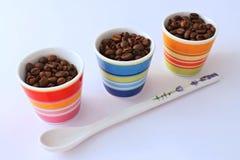 ο καφές κοιλαίνει τρία Στοκ εικόνες με δικαίωμα ελεύθερης χρήσης