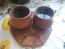 ο καφές κοιλαίνει δύο Στοκ Φωτογραφία