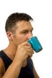 ο καφές πίνει το άτομό του Στοκ εικόνα με δικαίωμα ελεύθερης χρήσης