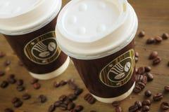 ο καφές πηγαίνει Στοκ Εικόνες