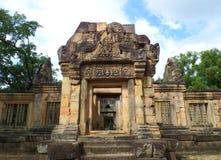 Ο καλά-συντηρημένος αρχαίος ναός σύνθετο Prasat Hin Muang Tam, Ταϊλάνδη Στοκ Εικόνες