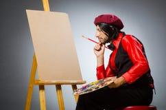 Ο καλλιτέχνης ατόμων στην έννοια τέχνης Στοκ Φωτογραφίες