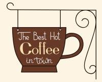 Ο καλύτερος καυτός καφές στην πόλη ελεύθερη απεικόνιση δικαιώματος