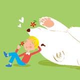 Ο καλύτερος φίλος μου είναι μια αρκούδα Στοκ Φωτογραφίες