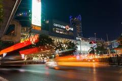 Ο κεντρικός κόσμος είναι μια μεγάλη λεωφόρος αγορών στην κεντρική Μπανγκόκ Στοκ Φωτογραφίες