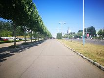 Ο κενός δρόμος της πόλης yantai στοκ φωτογραφία με δικαίωμα ελεύθερης χρήσης