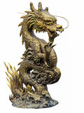 Ο κινεζικός δράκος χρυσός Στοκ Εικόνες