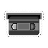 ο κινηματογράφος ταινιών VHS κόβει τη γραμμή Στοκ εικόνα με δικαίωμα ελεύθερης χρήσης