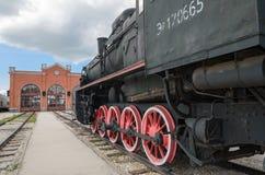 Ο κινητήριος τύπος του ER μηχανών ατμού Eh2 σε Voroshilovgrad Στοκ εικόνες με δικαίωμα ελεύθερης χρήσης