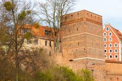 Ο κλίνοντας πύργος του Τορούν είναι ένας μεσαιωνικός πύργος Στοκ Εικόνα