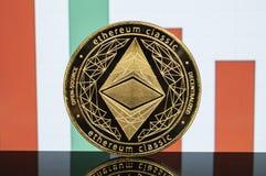 Ο κλασικός Ethereum είναι ένας σύγχρονος τρόπος της ανταλλαγής και αυτού του crypto νομίσματος στοκ εικόνες με δικαίωμα ελεύθερης χρήσης