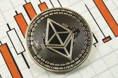 Ο κλασικός Ethereum είναι ένας σύγχρονος τρόπος της ανταλλαγής και αυτού του crypto νομίσματος στοκ εικόνα