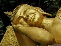 Ο κοισμένος χρυσός Βούδας Λάος Στοκ Φωτογραφίες