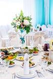 Ο κομψός πίνακας γευμάτων Στοκ εικόνα με δικαίωμα ελεύθερης χρήσης