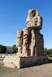 ο κολοσσός Memnon κοντά σε Luxor Στοκ Φωτογραφία