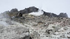 Ο κρατήρας του ηφαιστείου Sibayak Στοκ Εικόνες