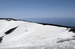 ο κρατήρας etna επικολλά το & Στοκ φωτογραφία με δικαίωμα ελεύθερης χρήσης