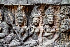 Ο κρυμμένος τοίχος, Siem συγκεντρώνει Καμπότζη Στοκ εικόνα με δικαίωμα ελεύθερης χρήσης