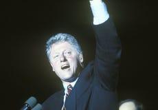 Ο κυβερνήτης Bill Clinton μιλά σε μια συνάθροιση εκστρατείας του Κεντάκυ το 1992 την τελική ημέρα να κάνει εκστρατεία του σε Padu Στοκ Εικόνες