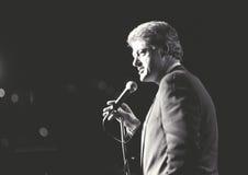 Ο κυβερνήτης Bill Clinton μιλά σε μια συνάθροιση της Νέας Υόρκης κατά τη διάρκεια του Clinton/την εκστρατεία Gore του 1992 Στοκ φωτογραφία με δικαίωμα ελεύθερης χρήσης