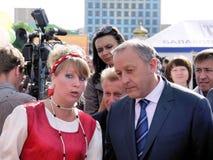 Ο κυβερνήτης Valery Radaev της περιοχής του Σαράτοβ Στοκ φωτογραφία με δικαίωμα ελεύθερης χρήσης