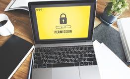 Ο κωδικός πρόσβασης εικονιδίων κλειδαριών προστάτευσε τη γραφική έννοια Στοκ Εικόνα